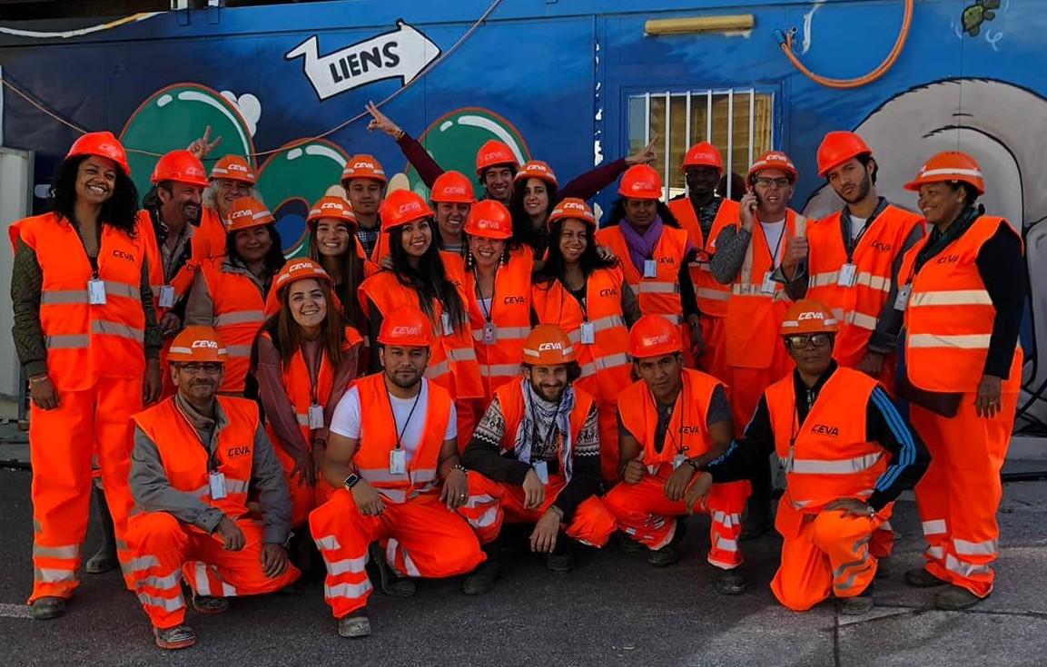 Visite du chantier du CEVA, 2018